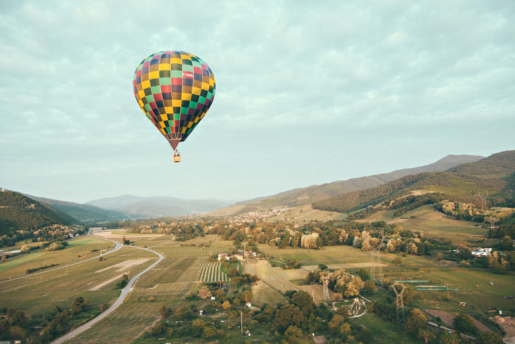 Balloon in the vineyards