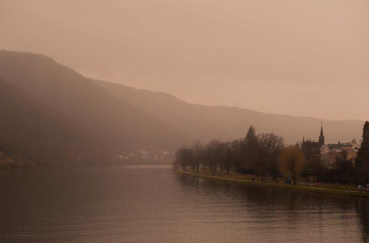 Fog over Rheinland Pfalz Mosel